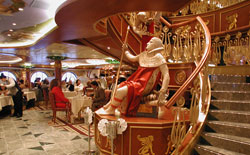 Carnival Spirit - The Empire dining room seats 1,300.