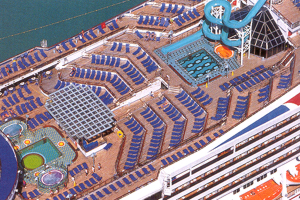 Carnival Destiny - Aerial Shot of Deck