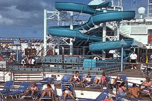 Carnival Destiny - Pool Deck with Waterslide