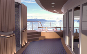 Fram - Rendering of Jacuzzi on Deck