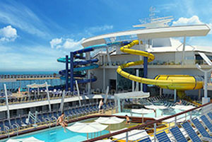 Harmony of the Seas - Waterslides in the Pool and Sports Zone.