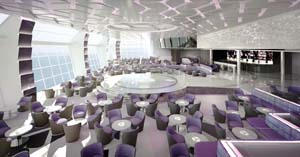 MSC Meraviglia - Aft Lounge