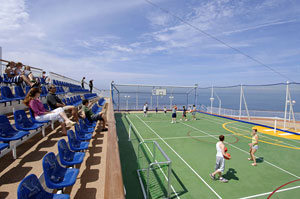 Norwegian Jewel - This ball court features innovative stadium seating.