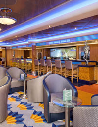 Norwegian Jewel - Bar Central features a martini bar called Shakers.
