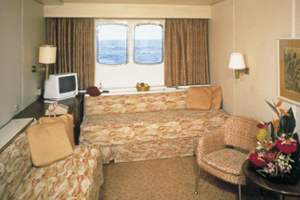 Pacific Princess - Deluxe Oceanview Cabin