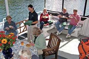Safari Quest - Aft Deck Dining