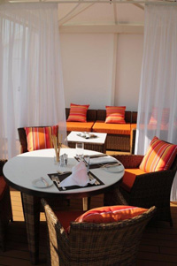 Seabourn Sojourn - Spa villa dining area