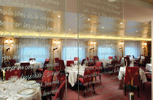 Seven Seas Voyager - Signatures restaurant is operated under Le Cordon Bleu