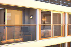 Viking Delling - Verandah Suite With Balcony--and-a-Half