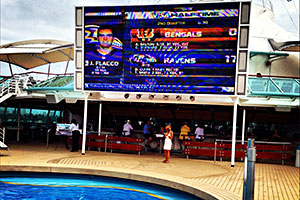 Vision of the Seas - Outdoor Movie Screen