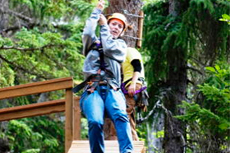 Skagway Zip-lining cruise excursion