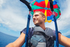 St. Thomas Parasailing cruise excursion