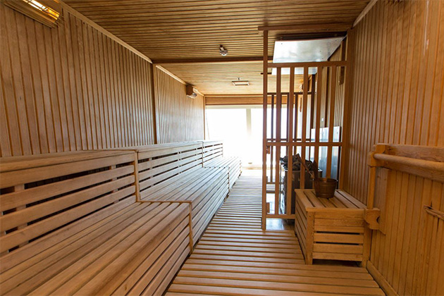 Don't spend money at the spa, when you can use the sauna for free