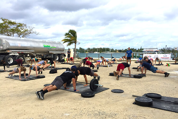 Barbells in the Bahamas