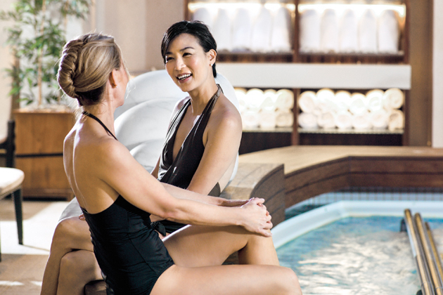 A relaxing soak in QM2's spa (Photo: Cunard)